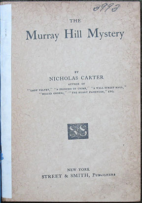 Image for The Murray Hill Mystery.