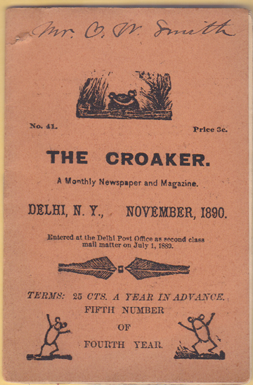 Image for The Monthly Croaker.