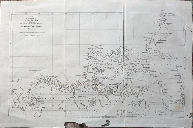 Image for Sketch of the Shores of Arctic America, to illustrate The Search For Sir John Franklin by Capt. Collinson of H.M.S. Enterprise 1850 1-2-3-4.