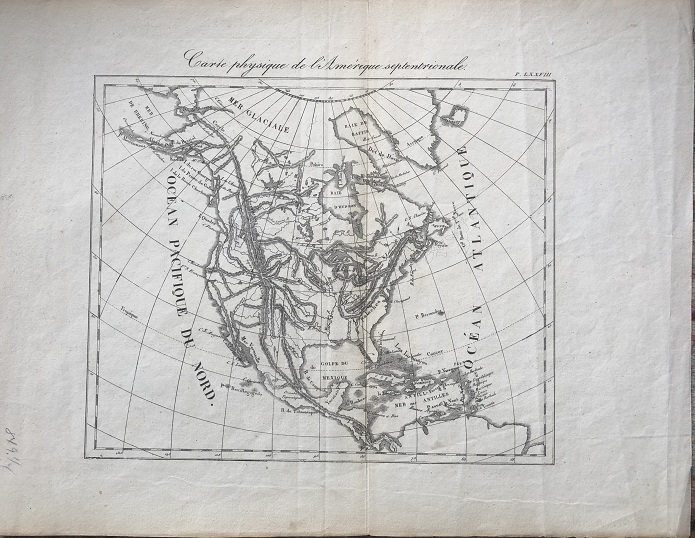 Image for Carte physique de l'Amerique septentrionale.